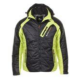 Peak Mountain Doudoune de ski homme CILORG noir/jaune