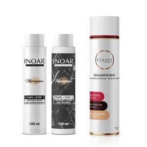 Inoar Professional Inoar Marroquino - Kit Lissage Brésilien - 2 x 100 ml + 1 Shampoing Sans Sulfate 250 ml - Publicité