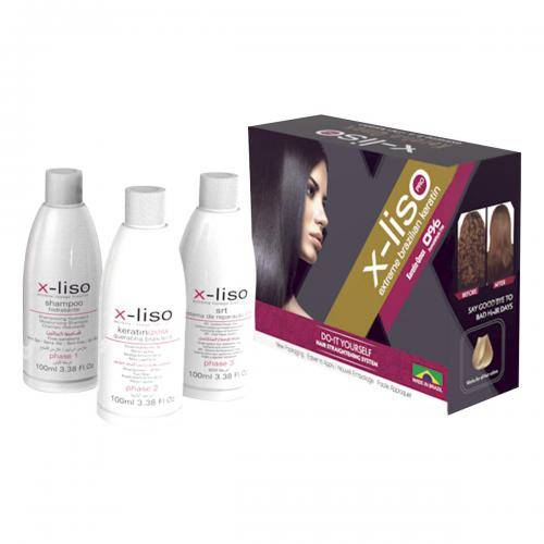 BRAZILIAN SECRETS HAIR X-Liso - Lissage Brésilien - 3 x 100 ml - 2 applications