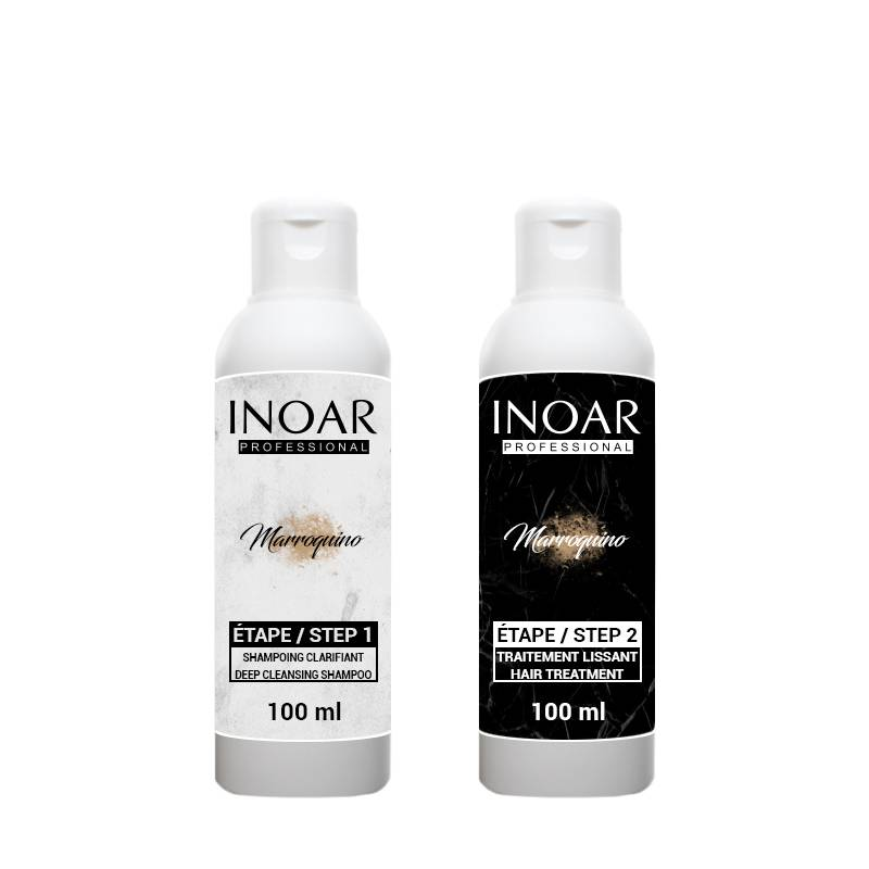 INOAR PROFESSIONAL Inoar Marroquino - Kit Lissage Brésilien - 2 x 100 ml - 1 application