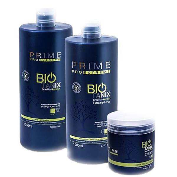 Biotanix Bio Tanix - Kit Lissage au Tanin - Taninoplastie - STEP 1 (1000 ml) + STEP 2 (1000 ml) + STEP 3 (500 g)