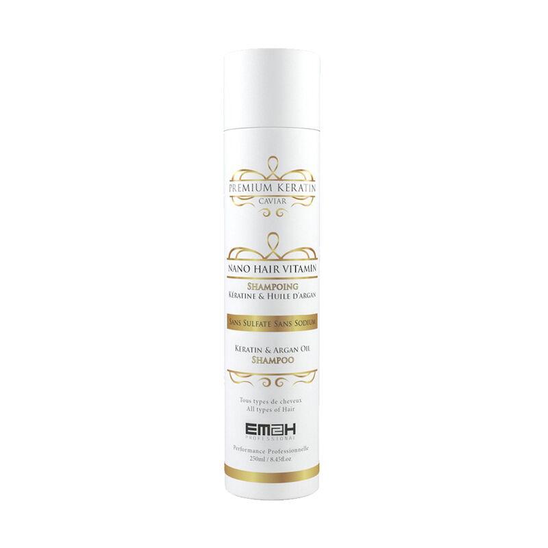 Em2h Premium Keratin Caviar - Shampoing - Kératine & Huile d'argan - Sans SLS