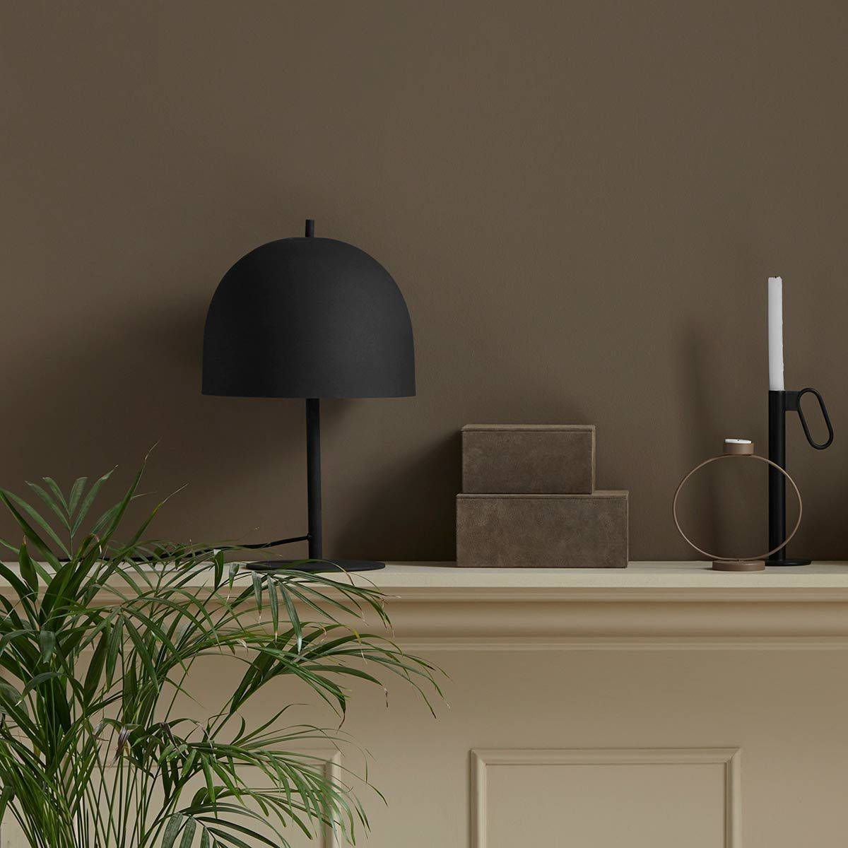 Nordal Lampe à poser dôme en métal Glow