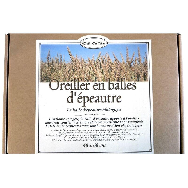 Mille Oreillers Oreiller en balles d'épeautre bio Mille Oreillers 40 x 60 cm