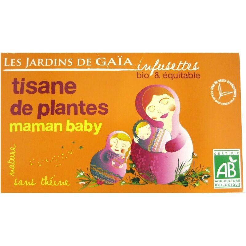 Les Jardins de Gaïa Infusettes tisane Maman baby  Jardins de Gaïa