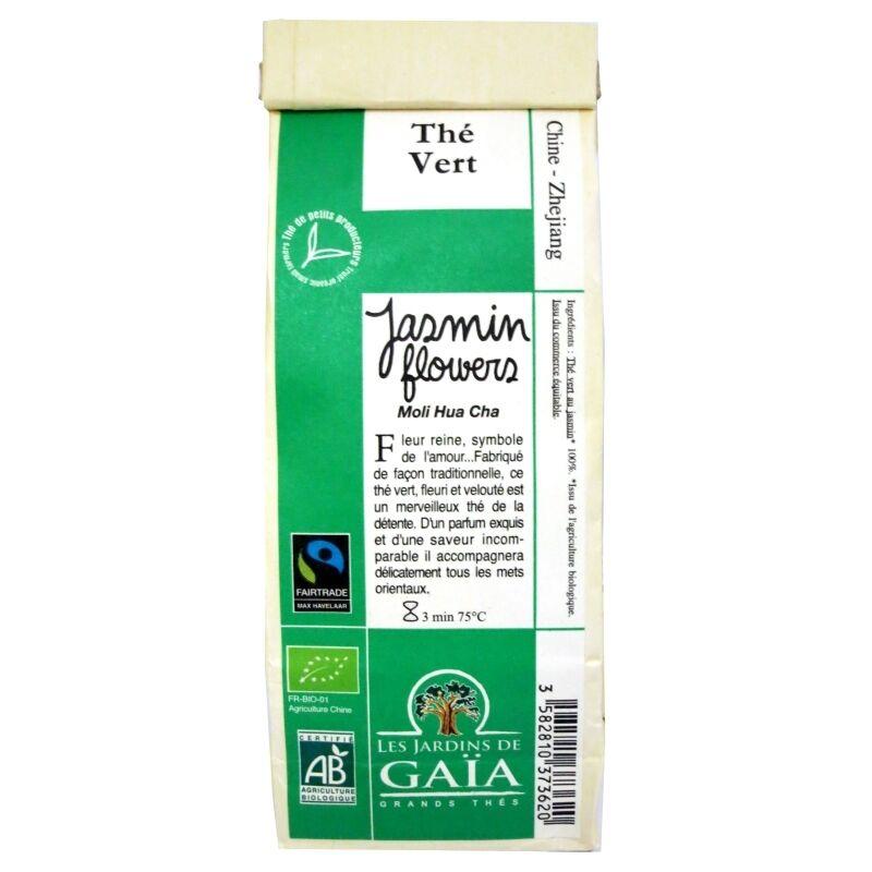 Les Jardins de Gaïa Thé vert Chine Fleurs de Jasmin Moli Hua Cha 100 g