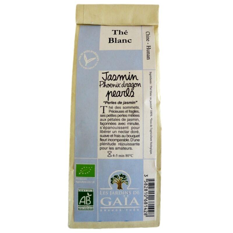 Les Jardins de Gaïa Thé blanc bio Jasmin Phoenix Dragon Pearls Jardins de Gaïa 100 g