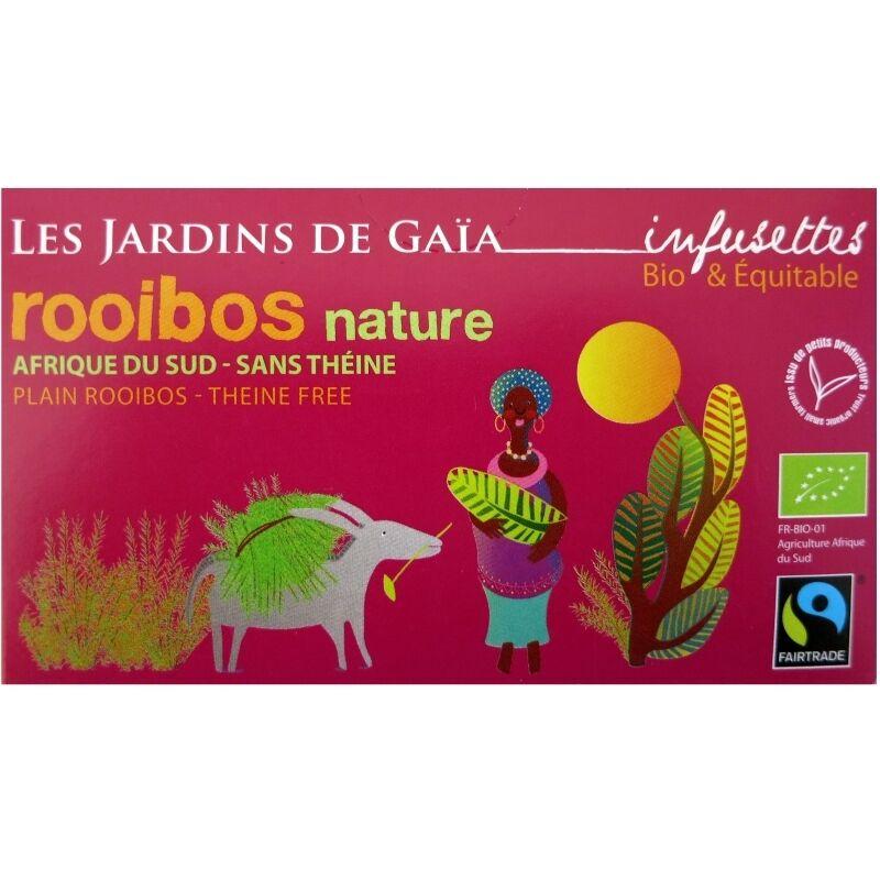 Les Jardins de Gaïa Thé rouge bio Rooibos Nature Jardins de Gaïa 20 infusettes