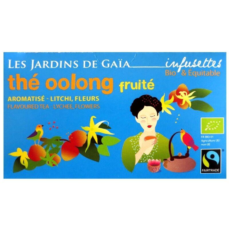 Les Jardins de Gaïa Thé oolong ou wu long bio Fruité Litchi Jardins de Gaïa 20 infusettes