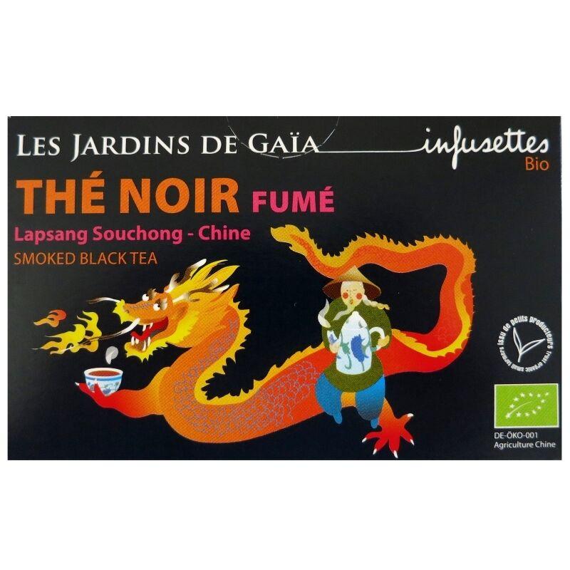 Les Jardins de Gaïa Infusettes thé noir bio Fumé Chine Jardins de Gaïa