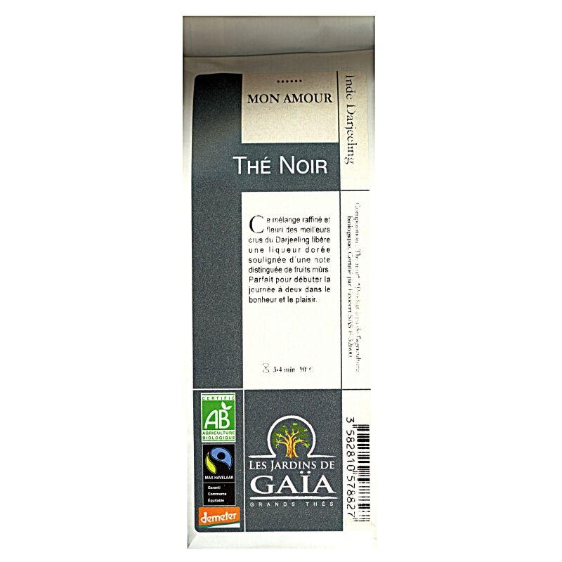 """Les Jardins de Gaïa Mélange de thés noirs bio """"Mon Amour"""" Darjeeling"""
