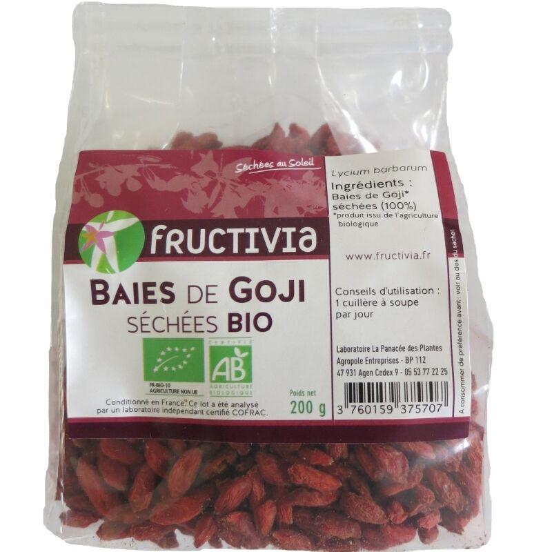 Fructivia Baies de Goji séchées bio Fructivia 200g