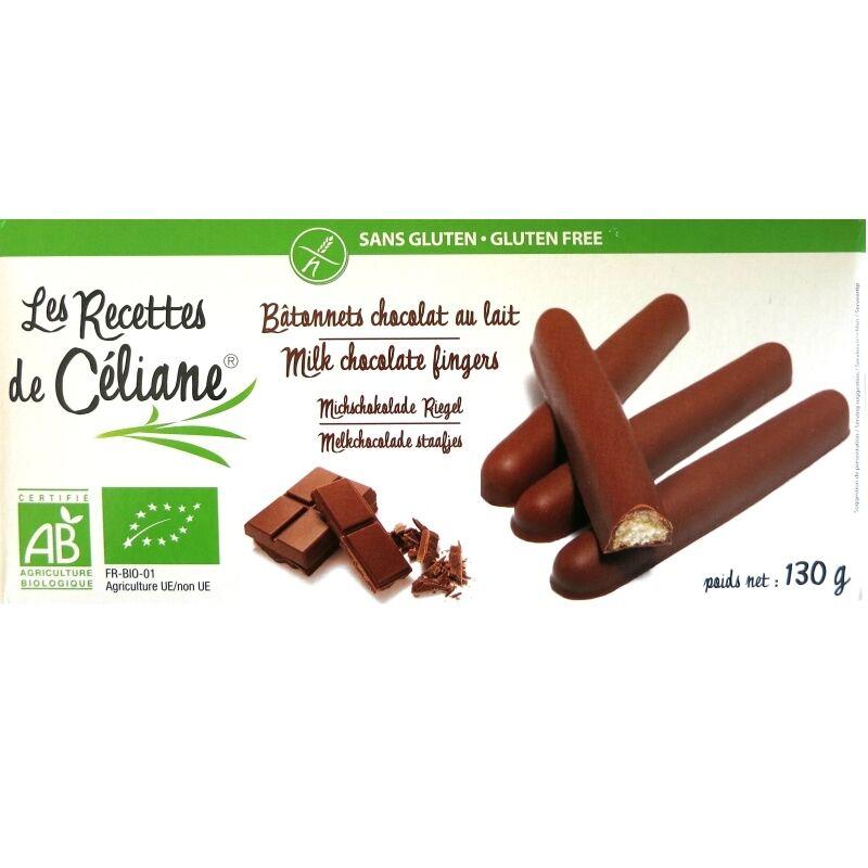 Les Recettes de Céliane Bâtonnets chocolat lait sans gluten Les Recettes de Céliane 130g