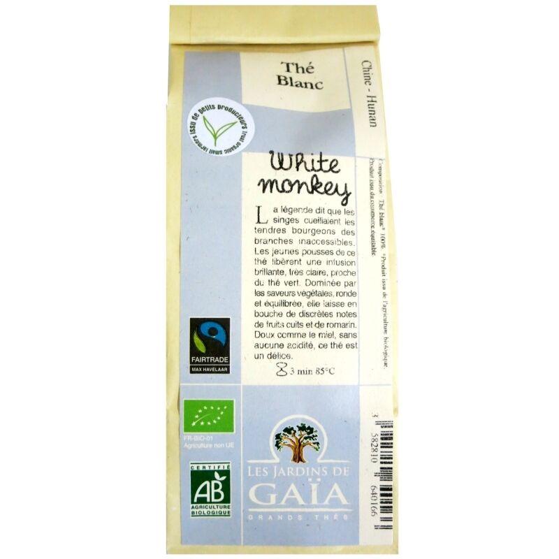 Les Jardins de Gaïa Thé blanc bio White monkey Bai Mao Hou Jardins de Gaïa 50 g