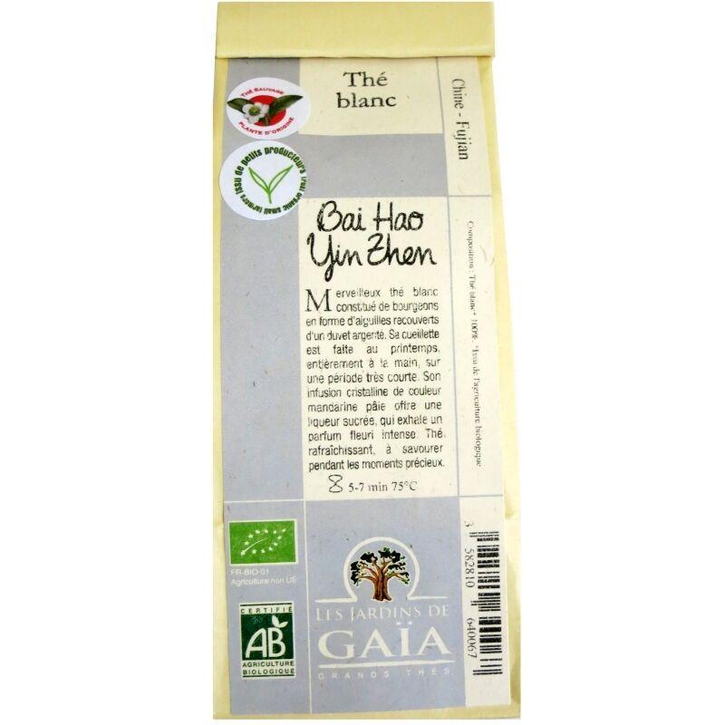 Les Jardins de Gaïa Thé blanc bio Bai Hao Yin Zhen  Jardins de Gaïa 50 g