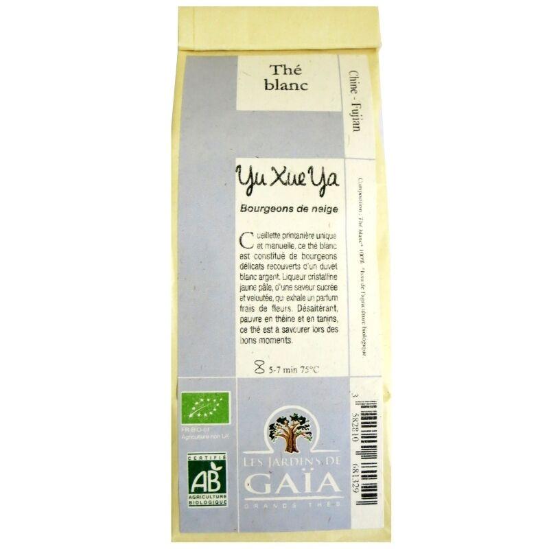 Les Jardins de Gaïa Thé blanc bio Yu Xue Ya  Jardins de Gaïa 50 g