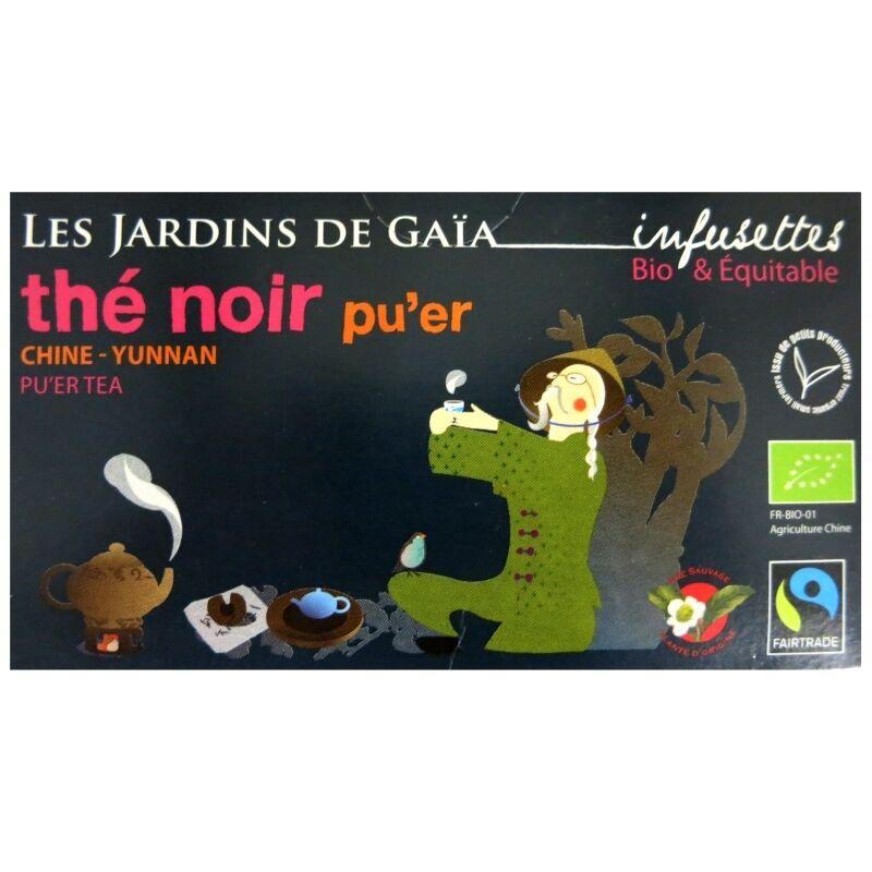 Les Jardins de Gaïa Infusettes thé noir bio Pu'er Jardins de Gaïa