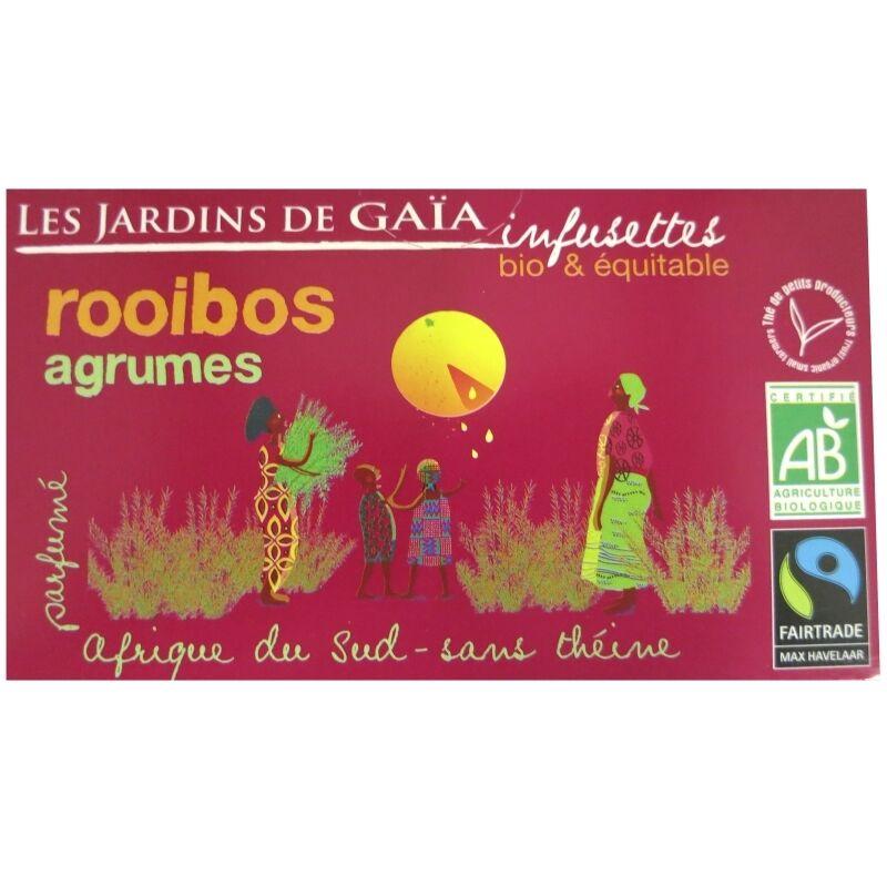 Les Jardins de Gaïa Thé rouge bio Rooibos Agrumes Jardins de Gaïa 20 infusettes