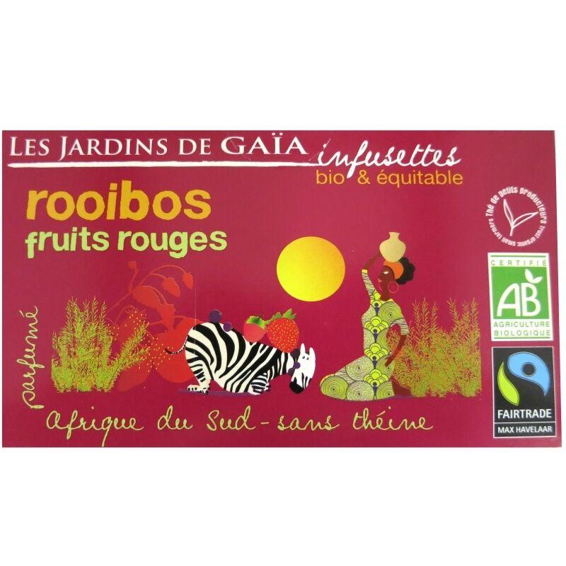 Les Jardins de Gaïa Thé rouge bio Rooibos Fruits Rouges Jardins de Gaïa 20 infusettes