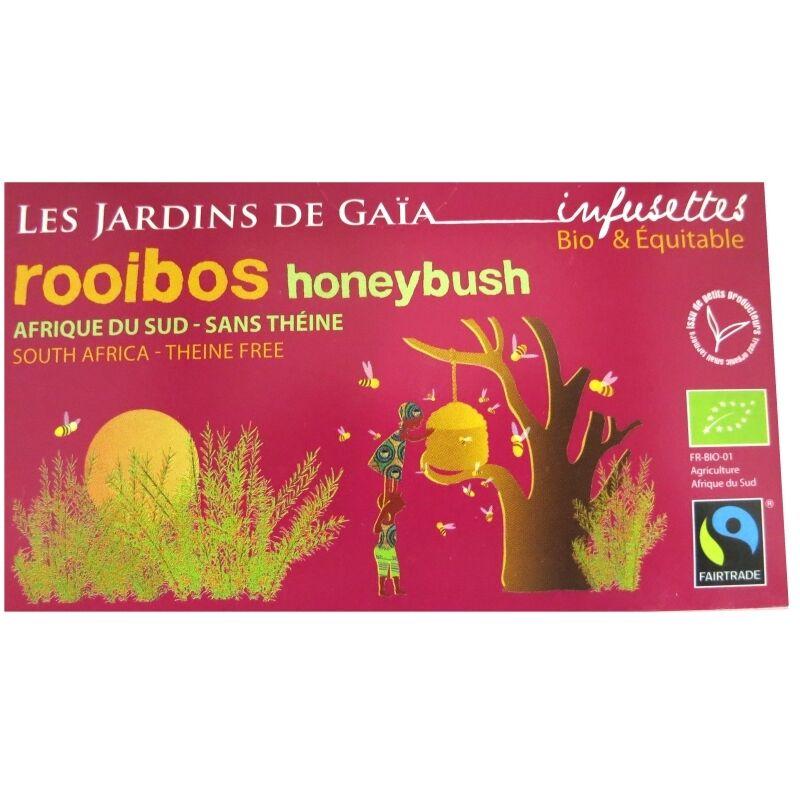 Les Jardins de Gaïa Thé rouge bio Rooibos Honeybush Jardins de Gaïa 20 infusettes