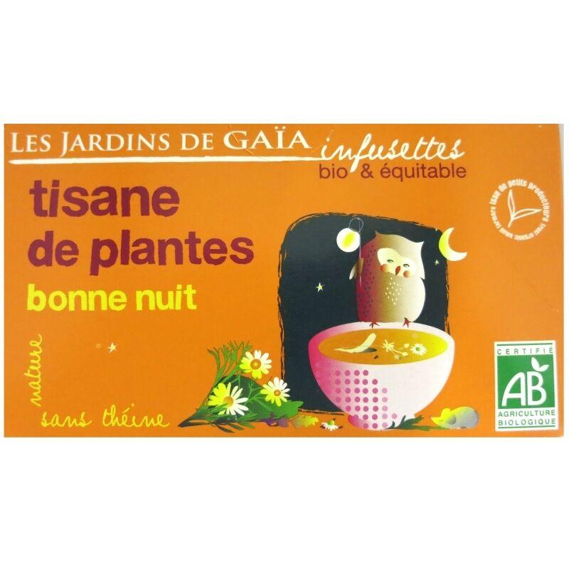 Les Jardins de Gaïa Infusettes tisane Bonne nuit Jardins de Gaïa