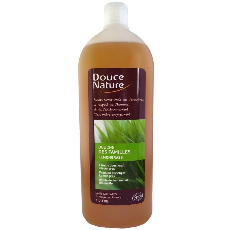 Douce Nature Gel douche des familles Lemongrass Douce Nature 1 litre