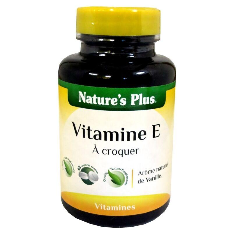 Nature's Plus Vitamine E à croquer Nature's Plus 60 comprimés