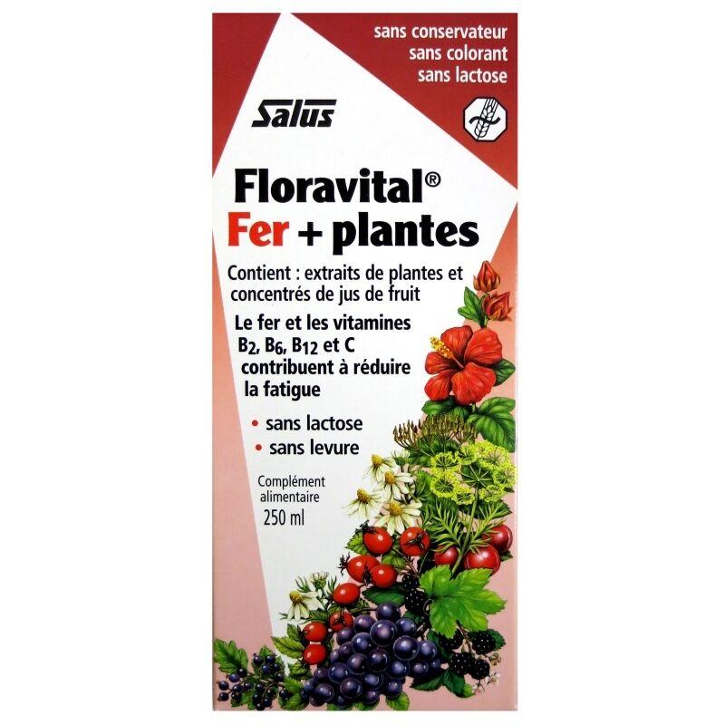 Salus France Floravital Fer et plantes sans gluten Salus 250 ml