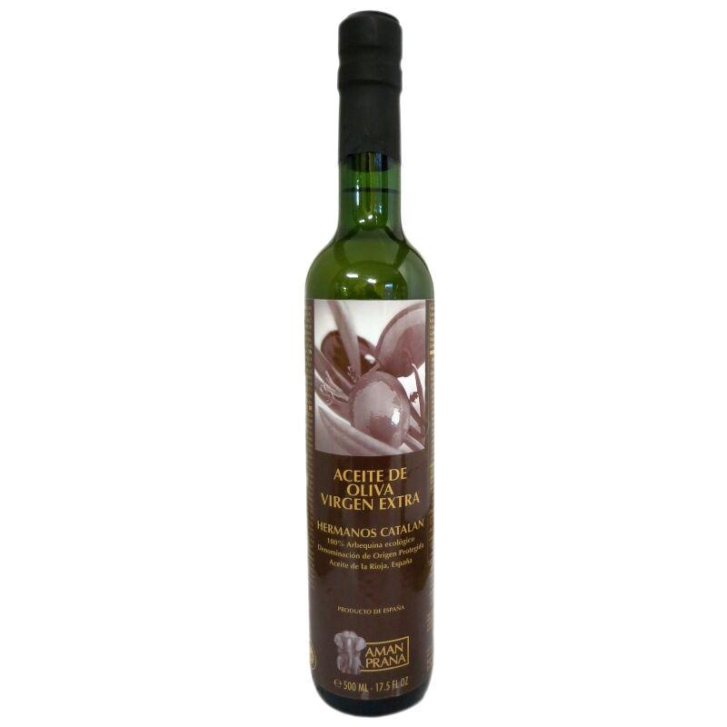 Amanprana Huile d'olive bio extra vierge Hermanos Catalan Amanprana 500 ml