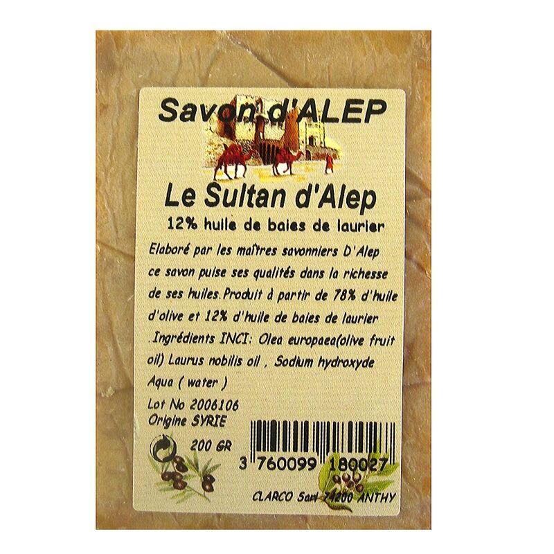 Le Sultan d'Alep Savon d'Alep bloc Le Sultan d'Alep 12 % 200 g