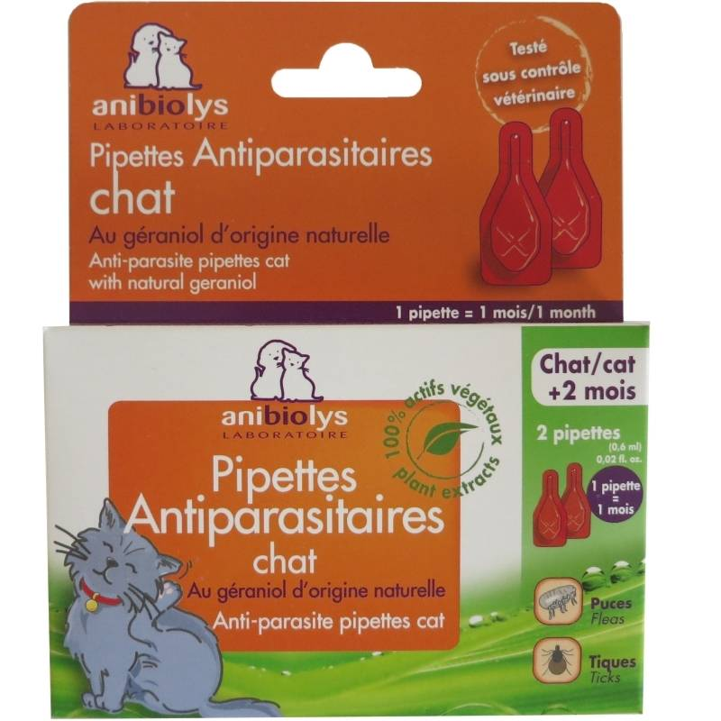 Anibiolys Pipettes antiparasitaires chat Anibiolys