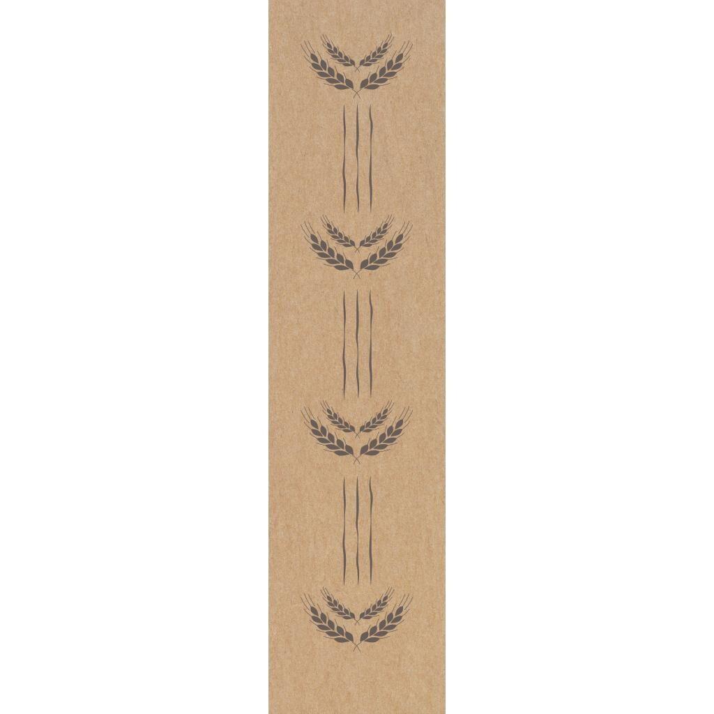 Firplast Sac à pain kraft brun 120+80x500mm imprimé marron X250 Firplast