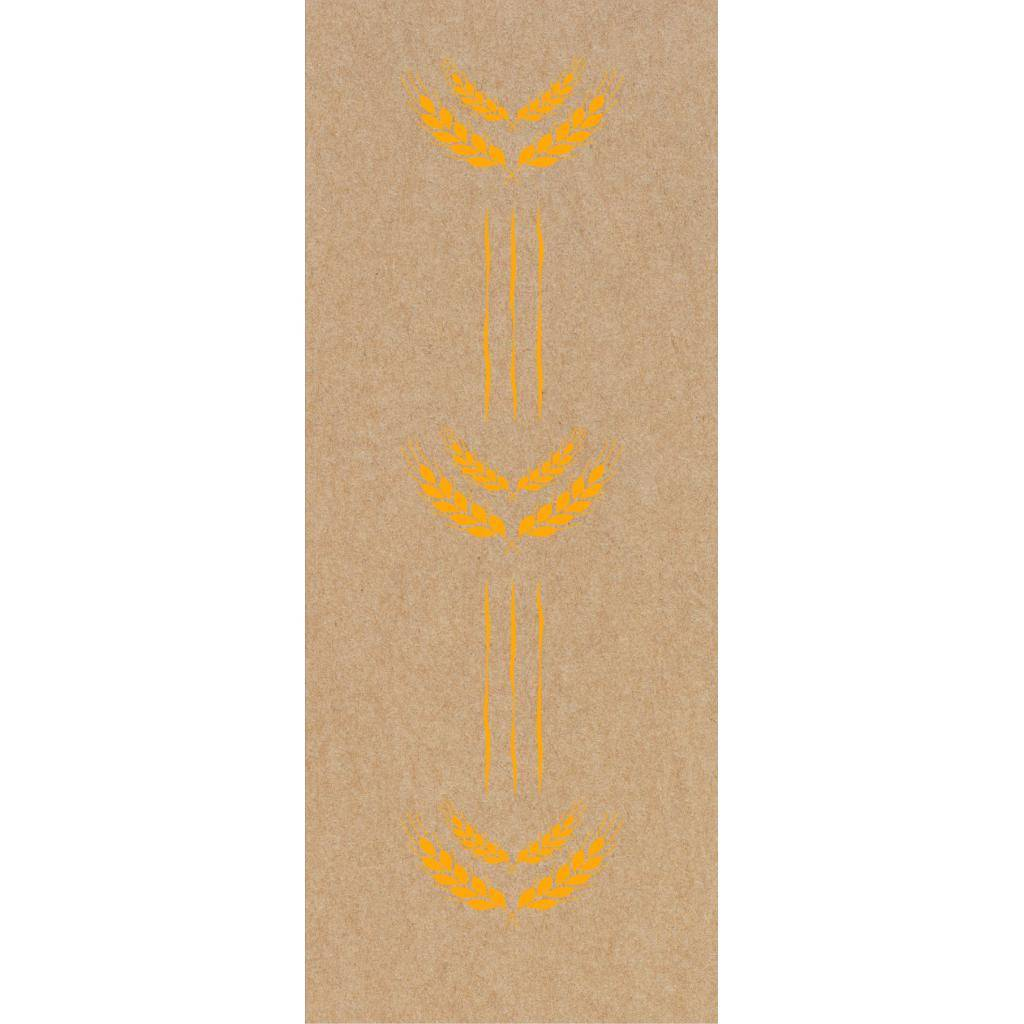 Firplast Sac à pain papier kraft brun 140+60x360mm Imprimé orange (X250) Firplast