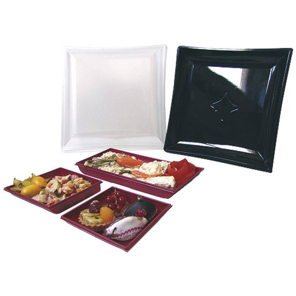 Firplast Kit assiette Vague bordeaux en PS x 100 Firplast