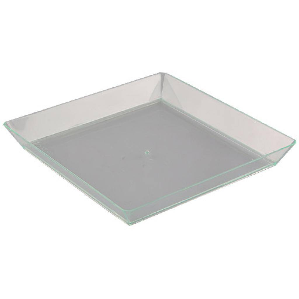 Firplast Assiette en plastique PS transparent 13 cm x 200 Firplast
