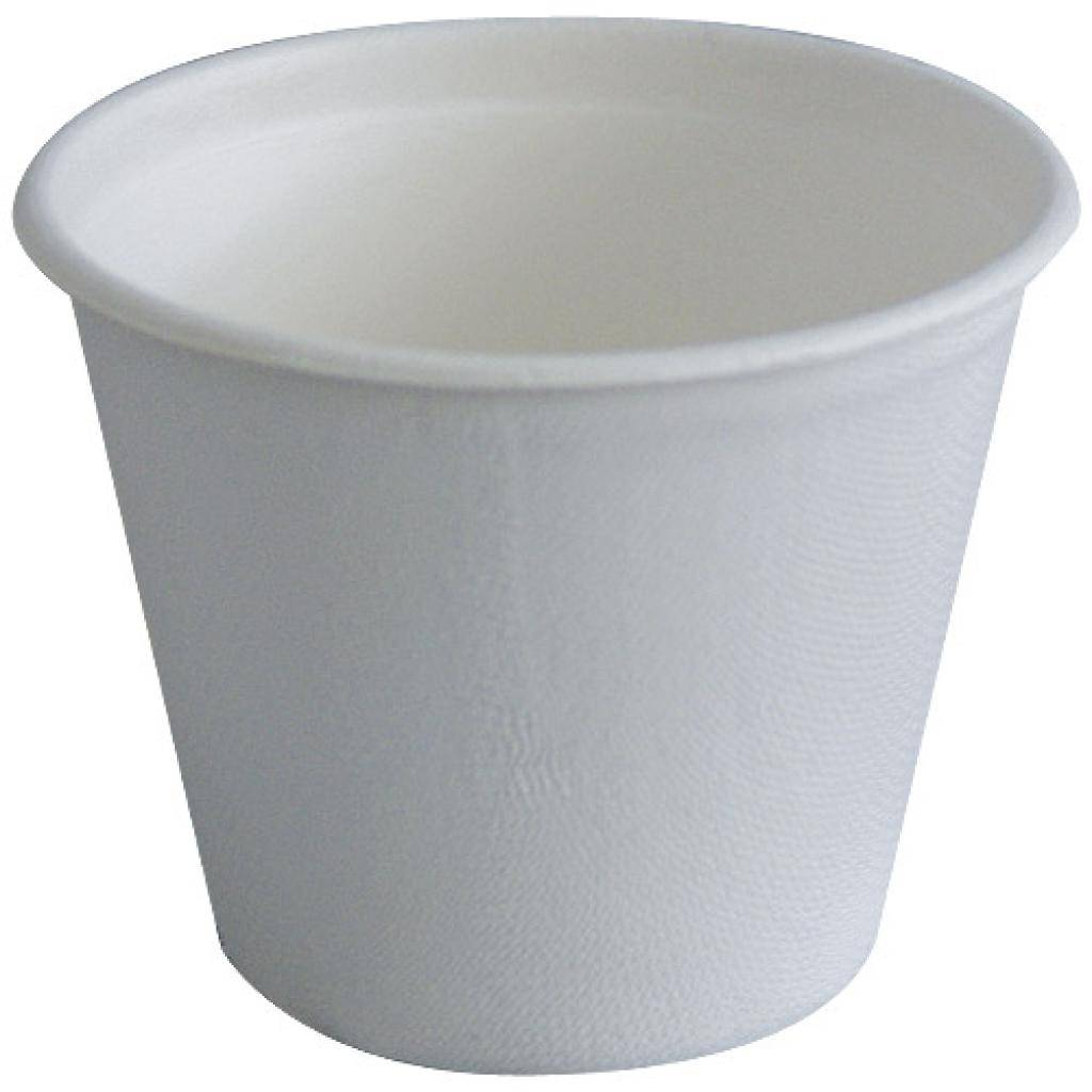 Firplast Pot à soupe en Pulpe Blanc 425ML  X25 Firplast