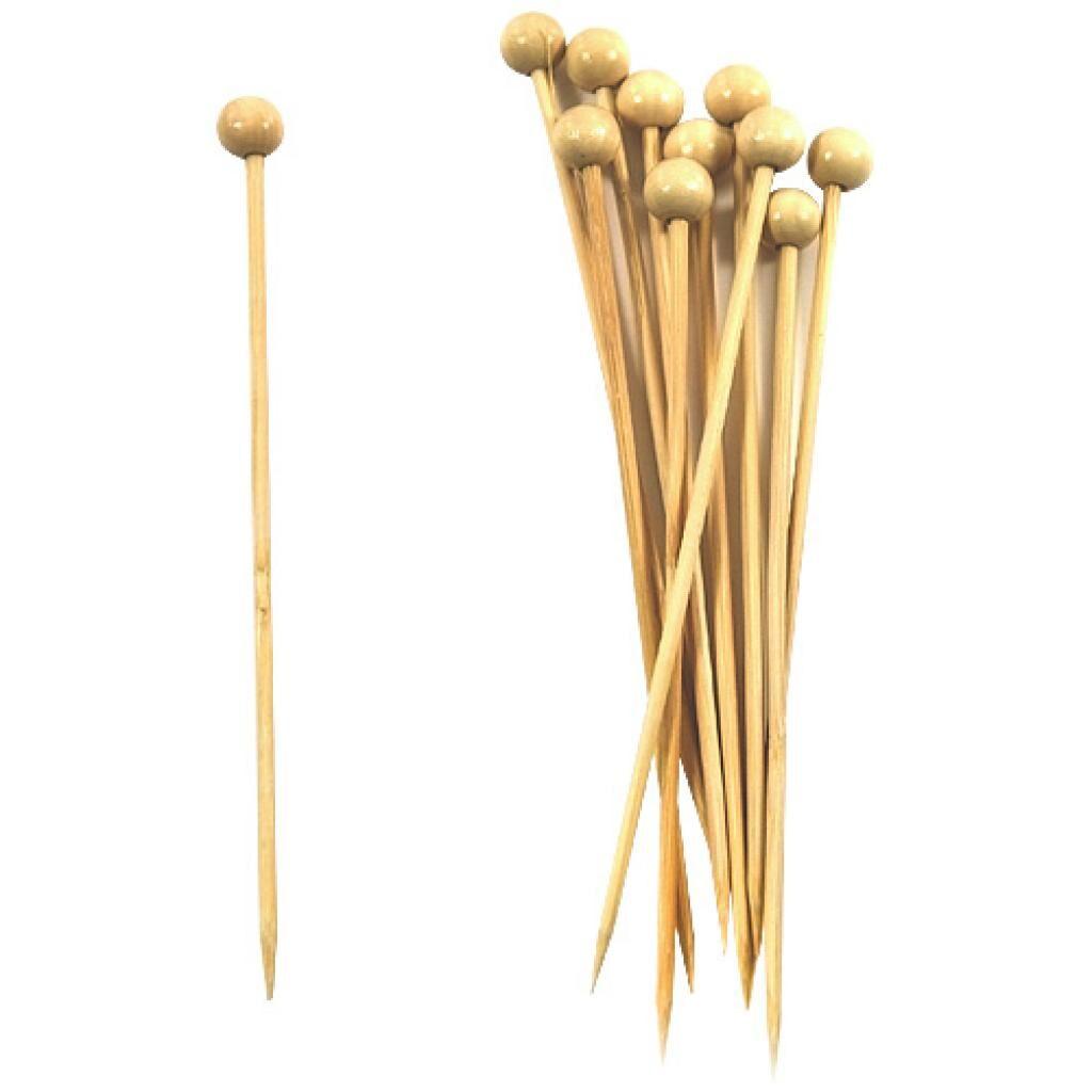 Firplast Pique bambou boule couleur naturelle 120mm x 100 Firplast