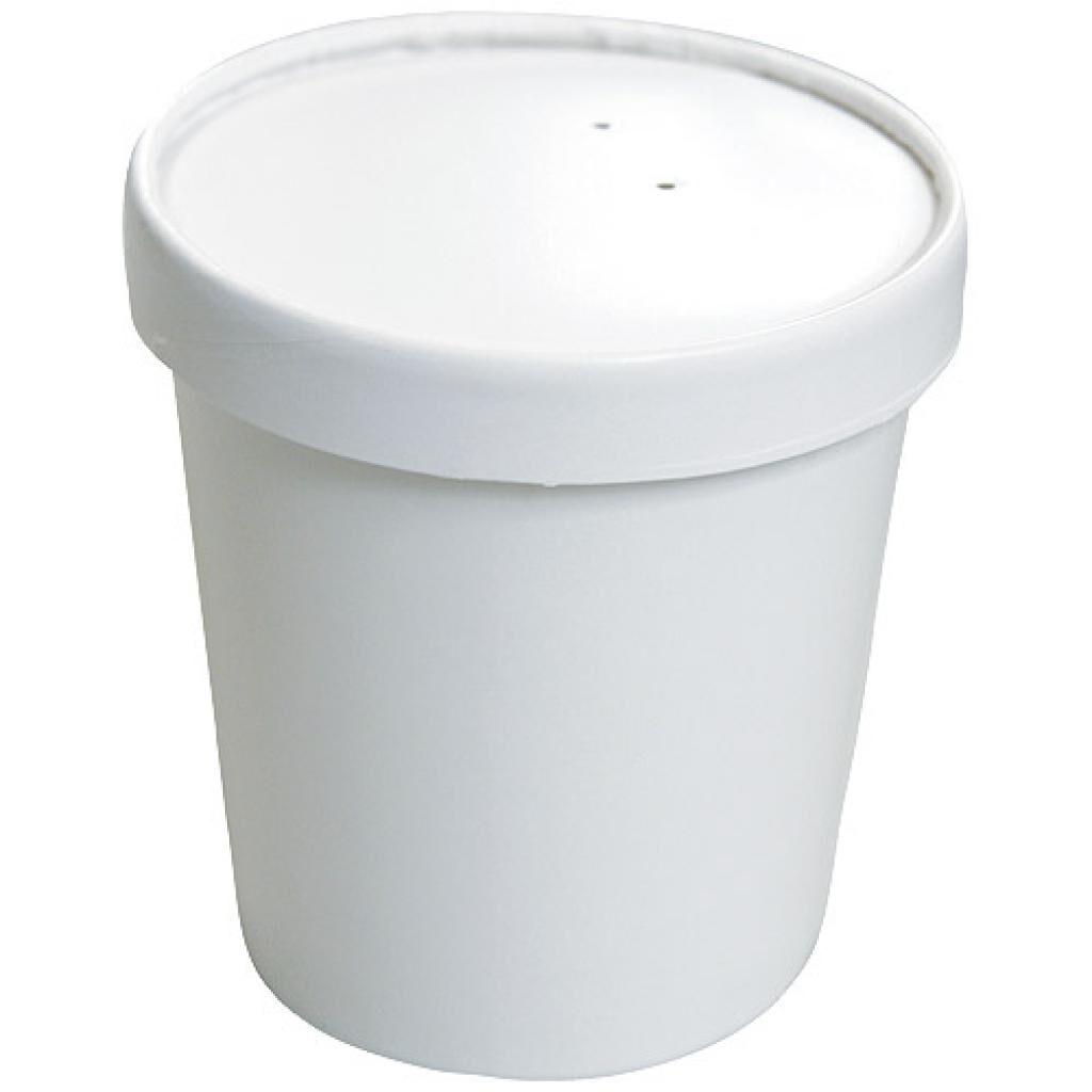 Firplast Pot à soupe carton blanc 36cl / 12oz avec couvercle x 250 Firplast