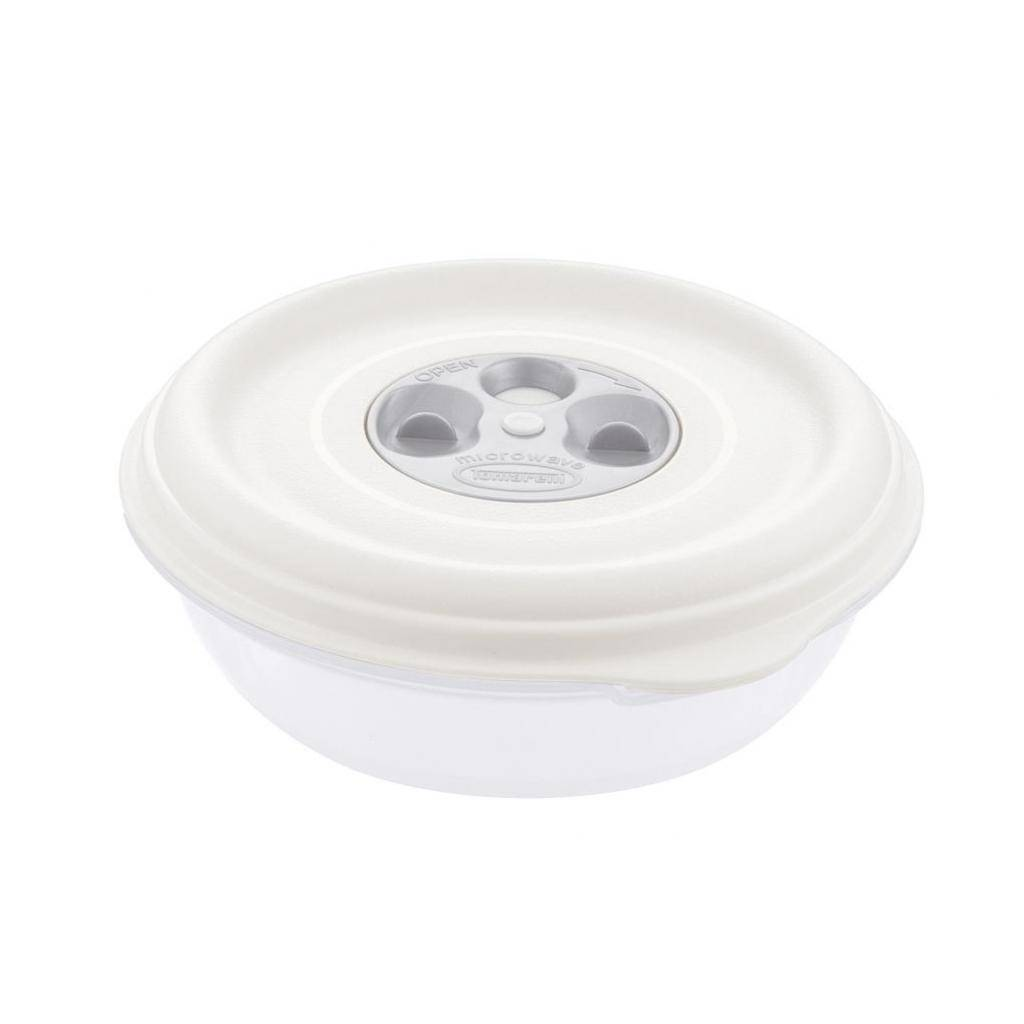 Firplast Bol PP blanc 1L réutilisable diamètre 180mm x 12 Firplast