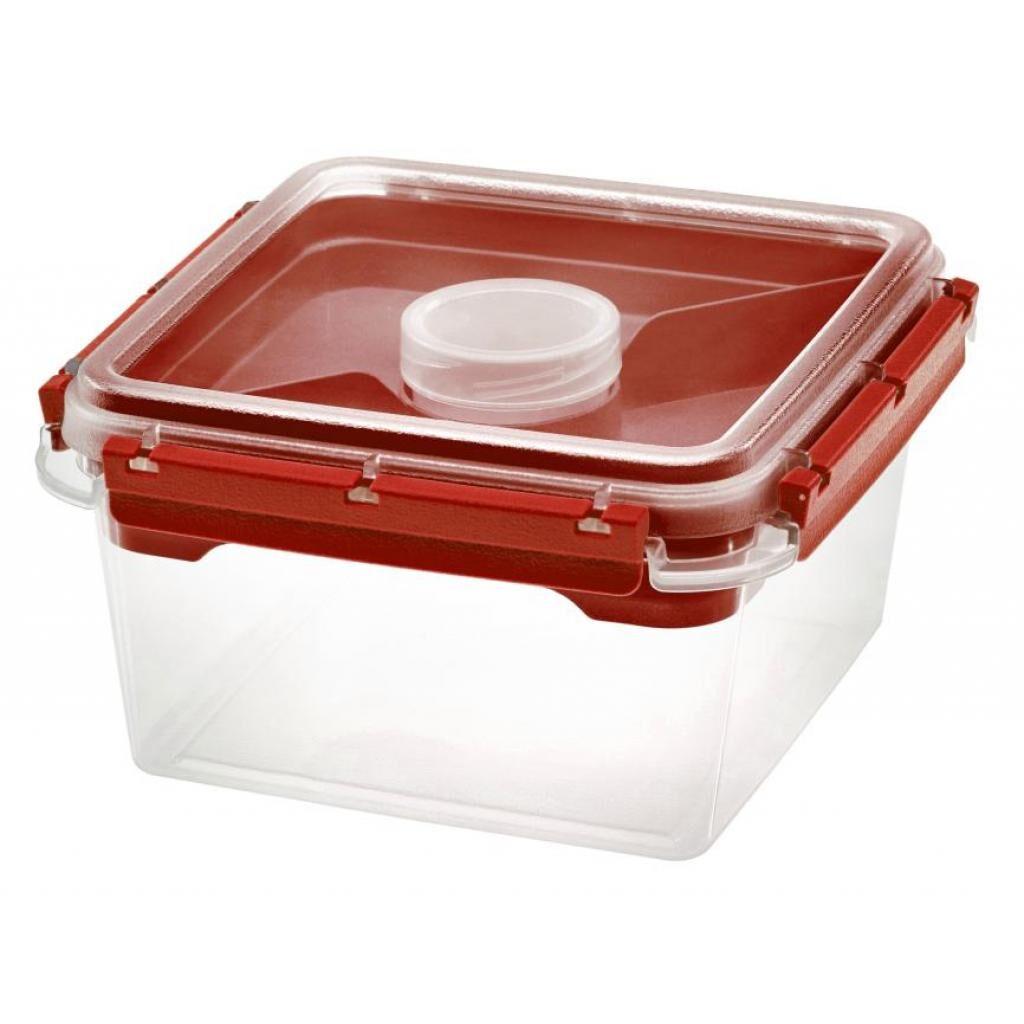 Firplast Boîte Bento PP 2,25L rouge réutilisable avec insert 2 compartiments et pot à sauce x 6 Firplast