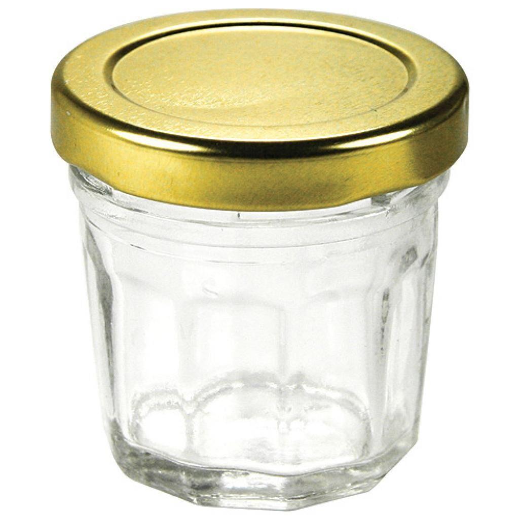 Firplast Mini Pot à confiture en verre couvercle or x 96 Firplast