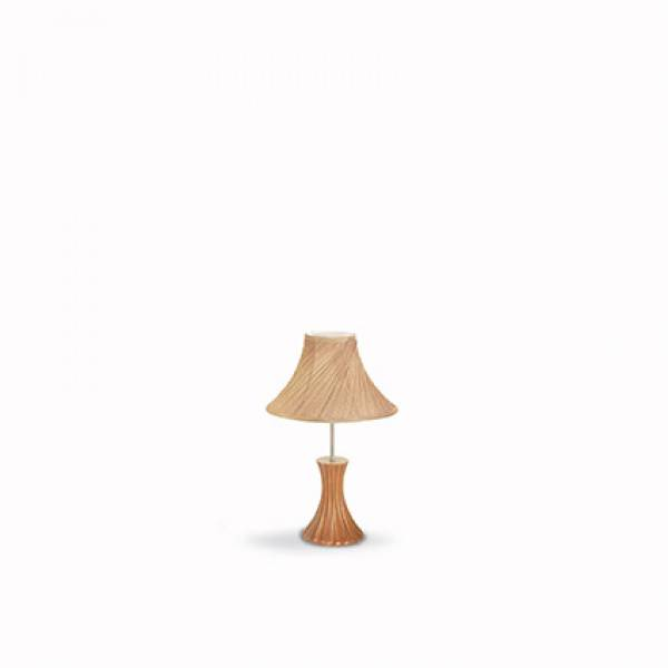 Ideal Lux Lampe de table BIVA-50 TL1 SMALL - Chanvre - Ideal Lux