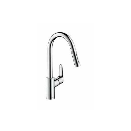 Hansgrohe Mitigeur avec douchette extractible Focus finition chrome (31815000)