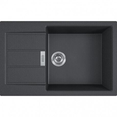 Franke SIRIUS - 2.0 S2D 611-78 Tectonite® Evier à encastrer avec bac XL Noir