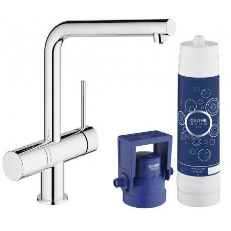 Grohe Blue Mitigeur Évier avec Système de Filtration d'Eau Minta Pure 31345002