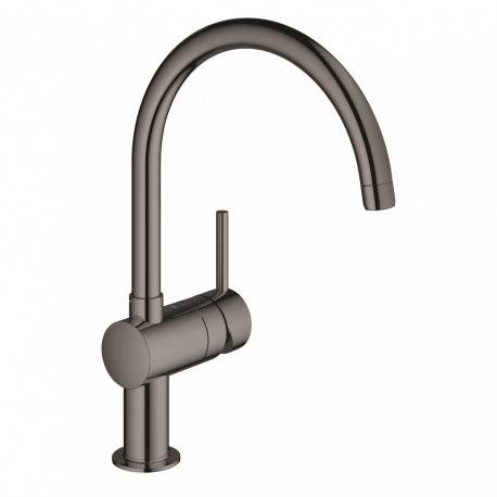 Grohe Minta, mitigeur monocommande évier, Hard Graphite (32917A00)