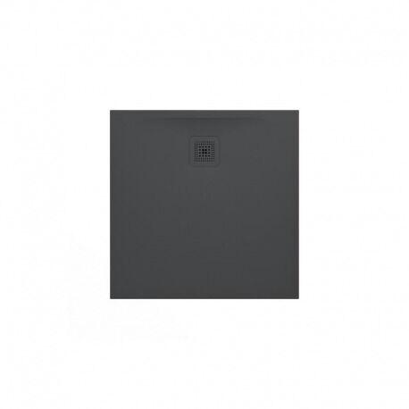 Laufen Pro Receveur de douche en gel coat Marbond, extra-plat, carré, évacuation sur le côté 100x100, Anthracite mat (H2119520780001)