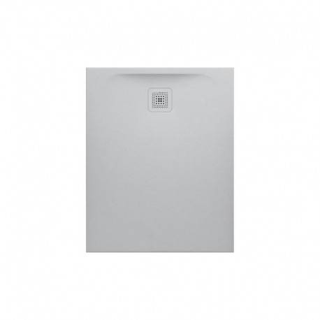 Laufen Pro Receveur de douche en gel coat Marbond, extra-plat, évacuation sur le côté court 100x80, Gris (H2109510770001)