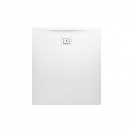 Laufen Receveur de douche en gel coat Marbond, extra-plat, évacuation sur le côté court100x90, Blanc mat (H2109570000001)