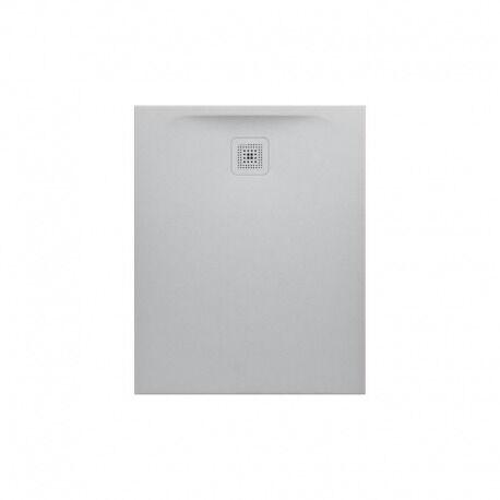 Laufen Pro Receveur de douche en gel coat Marbond, évacuation sur le côté court 100x90, Gris clair mat (H2109570770001)